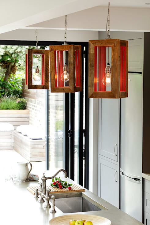 LIGHTING: HANGING LIGHTS: modern Kitchen by Cue & Co of London