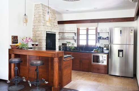 Residential—Juhu: rustic Kitchen by Nitido Interior design
