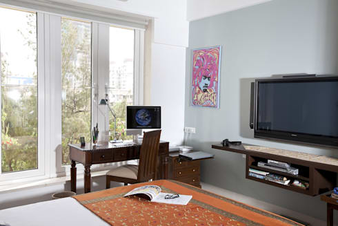 Residential—Gamadia Road: tropical Study/office by Nitido Interior design