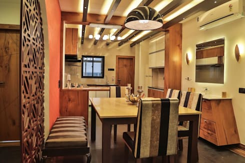 NRI Project: classic Dining room by Intraspace