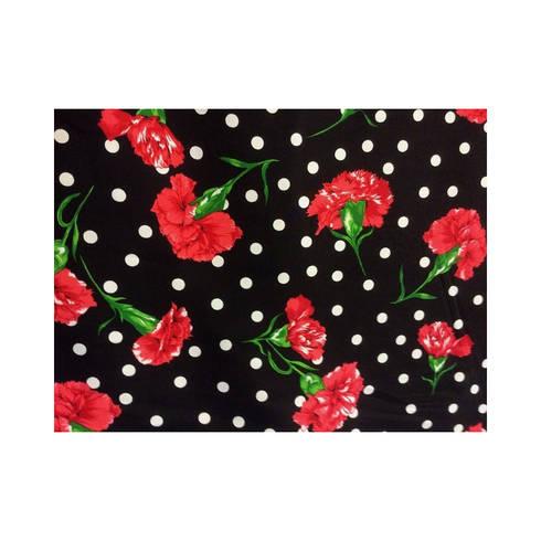 Tejido de crepe claveles rojos de telas infantiles prensatelas comprar en merceria online - Comprar telas infantiles ...