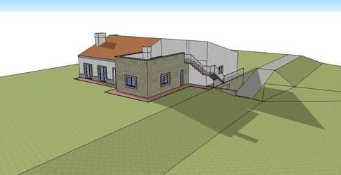 Habitação Unifamiliar  – Guia – Albufeira:   por 7@ARQ. (arquitectura & construção)