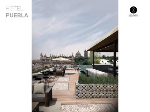 Terraza Bar: Hoteles de estilo  por Bloque Arquitectónico