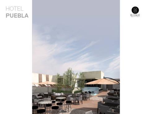Terraza Bar 2: Hoteles de estilo  por Bloque Arquitectónico