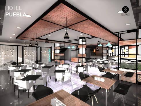 Restaurante: Hoteles de estilo  por Bloque Arquitectónico
