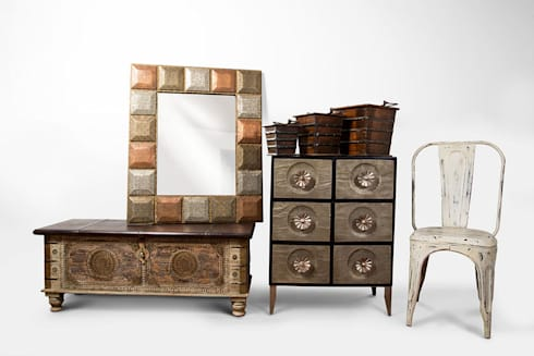 Metales que sobresales: Hogar de estilo  por SARRIA HOME
