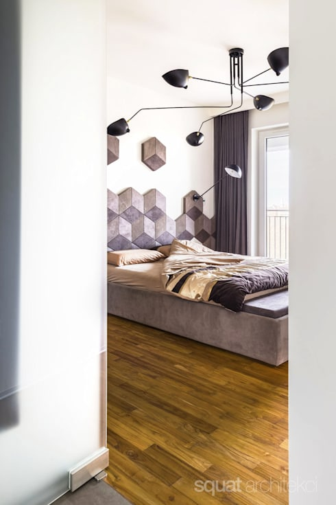 MIESZKANIE - 110m2: styl , w kategorii Sypialnia zaprojektowany przez SQUAT ARCHITEKCI
