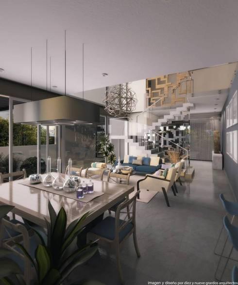 Comedor: Comedores de estilo moderno por Diez y Nueve Grados Arquitectos