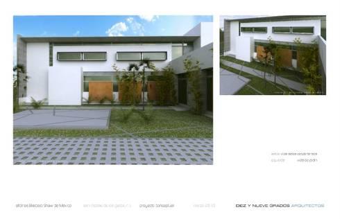 Patio social:  de estilo  por Diez y Nueve Grados Arquitectos