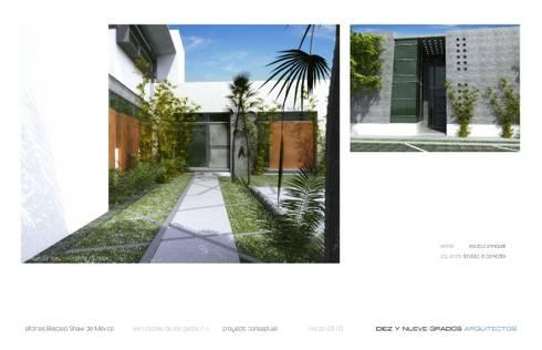 Accesos:  de estilo  por Diez y Nueve Grados Arquitectos