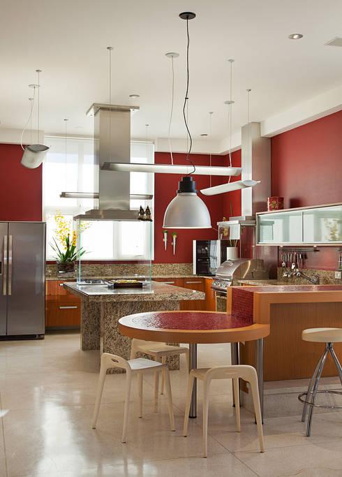 Residência  Vista Alegre  -Curitiba-PR: Cozinhas modernas por Karin Brenner Arquitetura e Engenharia