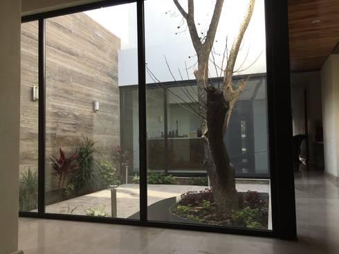 Jardín interior: Jardines de estilo ecléctico por Diez y Nueve Grados Arquitectos