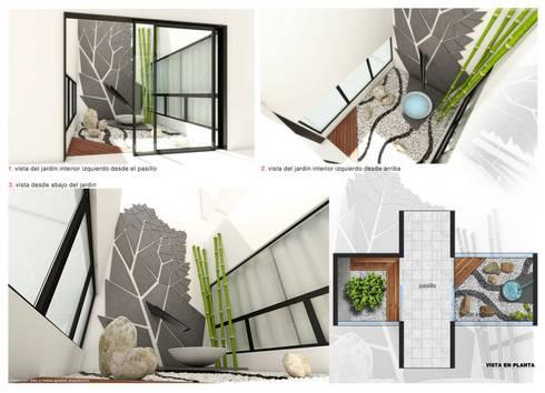 Jardin interior:  de estilo  por Diez y Nueve Grados Arquitectos