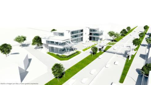 Perspectiva izquierda:  de estilo  por Diez y Nueve Grados Arquitectos