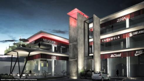 Perspectiva de noche:  de estilo  por Diez y Nueve Grados Arquitectos