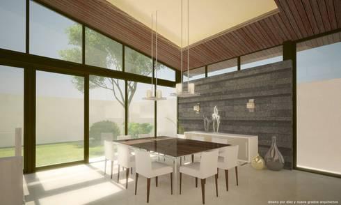 Comedor:  de estilo  por Diez y Nueve Grados Arquitectos