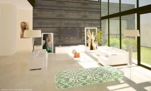 Sala:  de estilo  por Diez y Nueve Grados Arquitectos