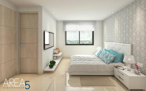 Dormitorio Principal - Evora85: Habitaciones de estilo moderno por Area5 arquitectura SAS