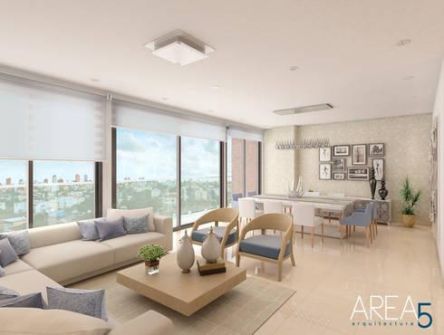 Sala-Comedor: Salas de estilo moderno por Area5 arquitectura SAS