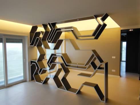 Apartamento : Salas de jantar modernas por Poliune