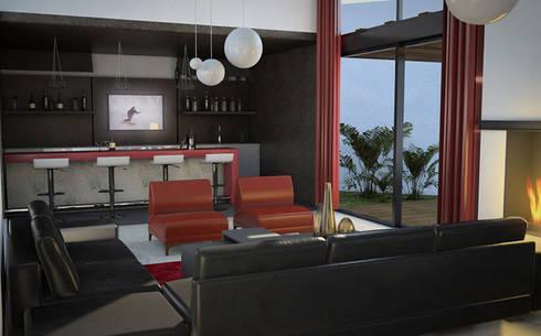 Casa Córdoba : Salas de estilo moderno por BCA taller de diseño