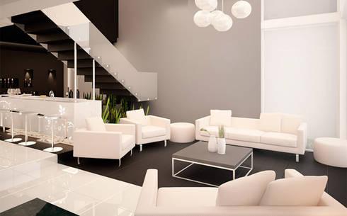 Casa PG: Salas de estilo moderno por BCA taller de diseño