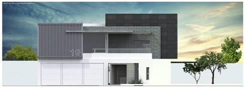 Elevación principal:  de estilo  por Diez y Nueve Grados Arquitectos