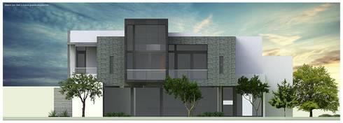 Elevación lateral:  de estilo  por Diez y Nueve Grados Arquitectos