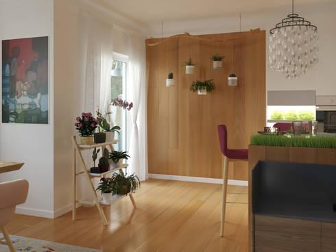 3D render - kitchen: Cocinas de estilo moderno por 3Deko
