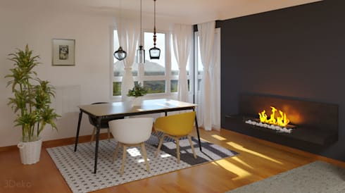 3D render - kitchen: Comedores de estilo moderno por 3Deko