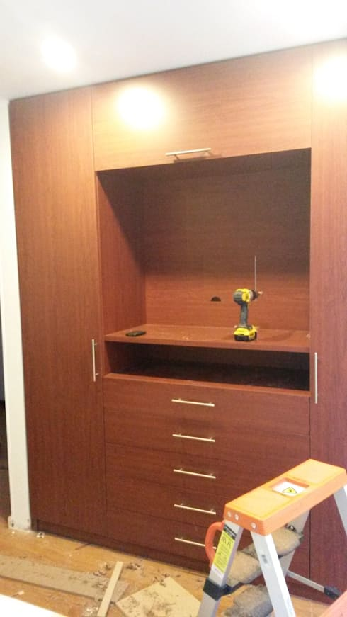 PROCESO DE INSTALACIÓN CLOSET : Dormitorios de estilo  por LABORATO ARQUITECTURA & DISEÑO