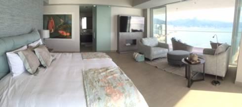 Condominio Tres Mares: Comedores de estilo moderno por Marusa Albarrán interior Design