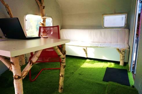 Caravane Bois Bureau De Jardin By Jardin Boheme | Homify