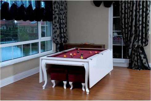 billard und esstisch in einem von i e k chen wohnen de luxe homify. Black Bedroom Furniture Sets. Home Design Ideas