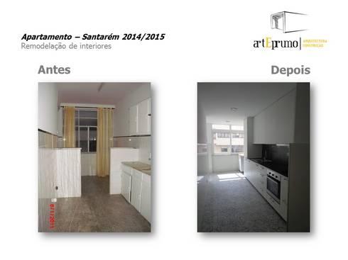 Arteprumo: Cozinhas modernas por Arteprumo, LDA