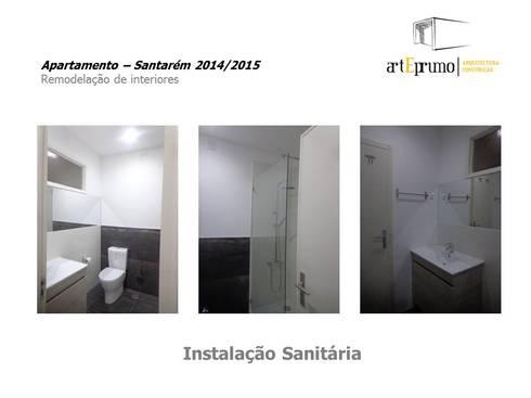 Arteprumo: Casas de banho modernas por Arteprumo, LDA