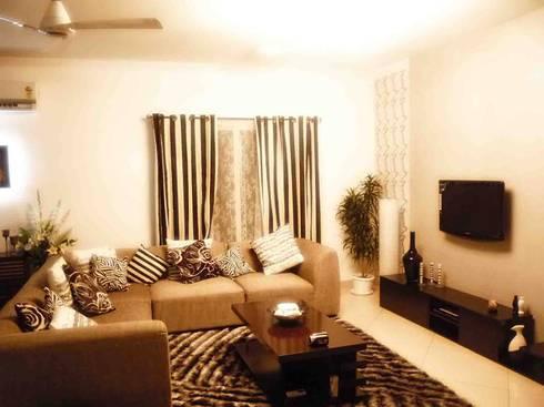 SHOBHA INTERIORS THRISSUR: modern Living room by DREAM INFINITE