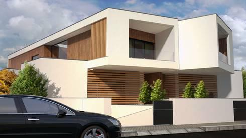 Entrada Principal: Casas modernas por PROJETARQ