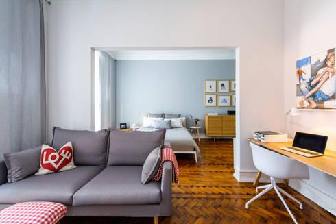 Apartamento Lisboa : Quartos escandinavos por Espaço Mínimo