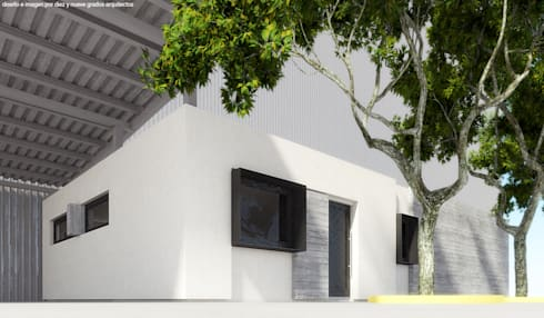 Edificio de oficinas 02:  de estilo  por Diez y Nueve Grados Arquitectos
