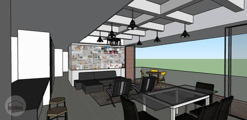 Diseño 3D: Salas de estilo industrial por DeftoHomeStudio INC