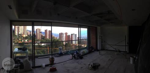 Proceso de obra: Salas de estilo industrial por DeftoHomeStudio INC