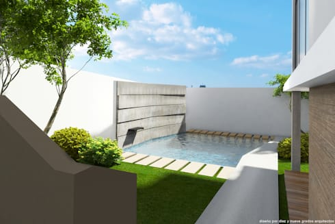 Alberca:  de estilo  por Diez y Nueve Grados Arquitectos