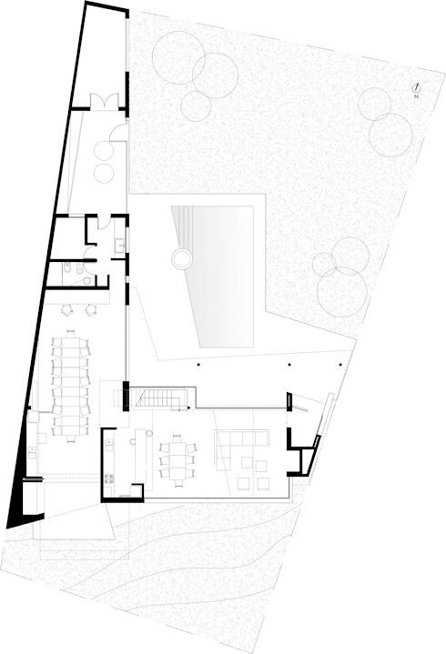 Planta Baja: Casas de estilo moderno por Poggi Schmit Arquitectura