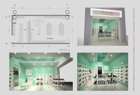 Lámina de presentación:  de estilo  por Diez y Nueve Grados Arquitectos