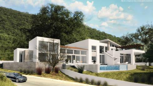 Perspectiva lateral:  de estilo  por Diez y Nueve Grados Arquitectos