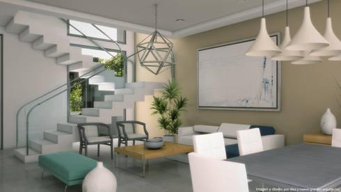 Sala comedor:  de estilo  por Diez y Nueve Grados Arquitectos
