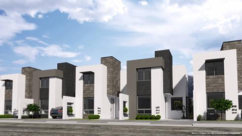 Perspectiva de Fachadas:  de estilo  por Diez y Nueve Grados Arquitectos