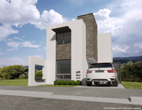 Propuesta 01:  de estilo  por Diez y Nueve Grados Arquitectos