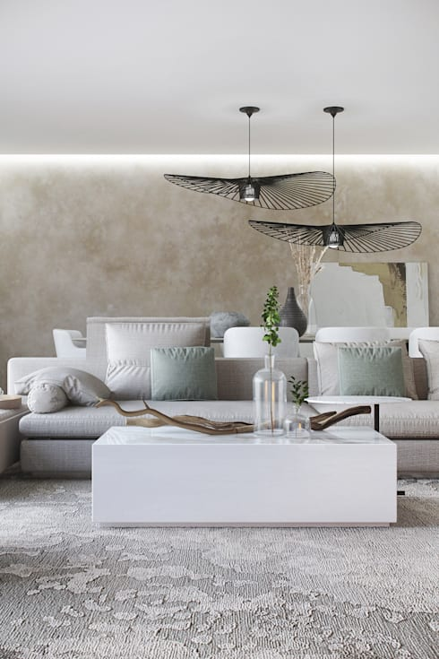 Living room by DZINE & CO, Arquitectura e Design de Interiores